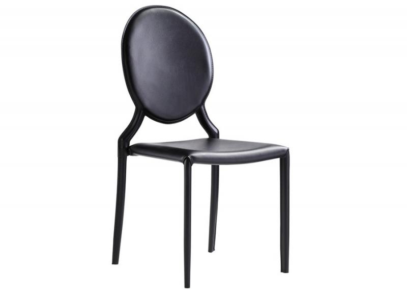Cadeira revestido em recouro medalhão